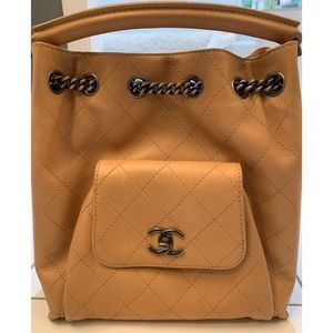 Chanel Nude Convertible Backpack/ Top Handle Purse